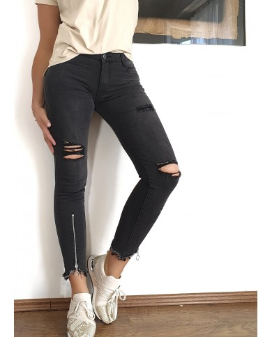 Spodnie jeansy skinny z...
