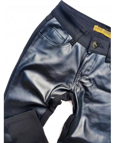 Spodnie czarne skajkowe POP7