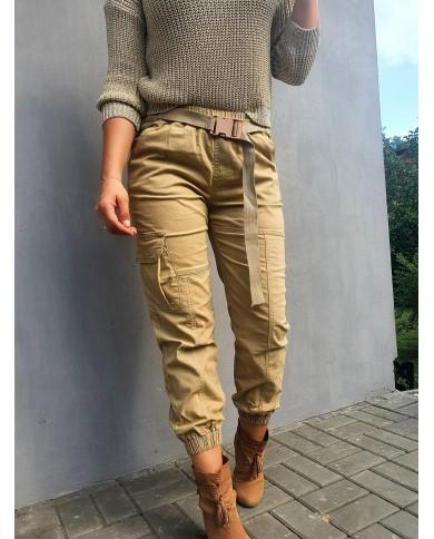 Spodnie szerokie ze...