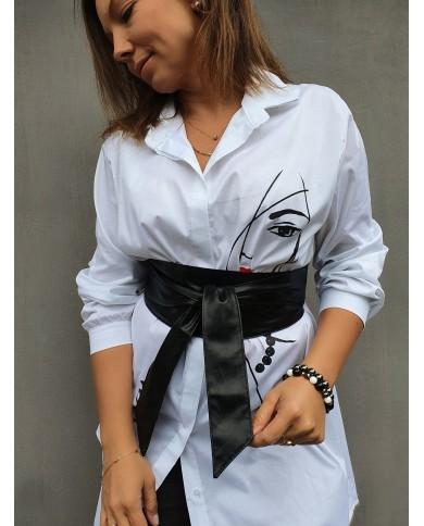 Bluzka koszulowa tunika SHE