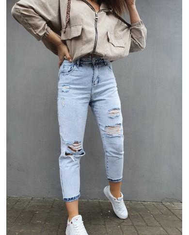 Spodnie jeansowe z wysokim stanem DAISY