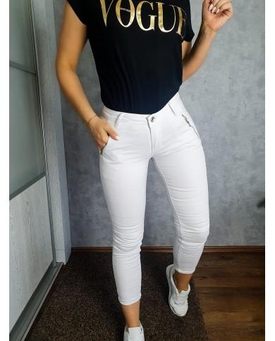 Spodnie bawełniane białe 9033