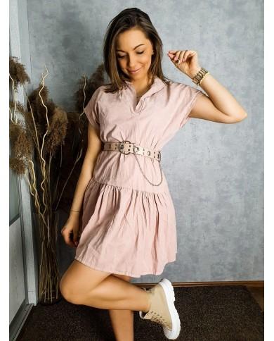 Trapezowa sukienka z falbanką AMANDA